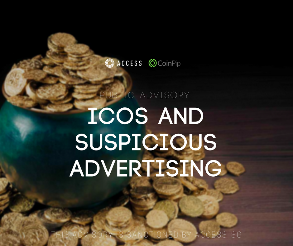 Public Advisory ICOs and Suspicious Advertising